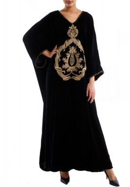 Golden Pattern Kaftan