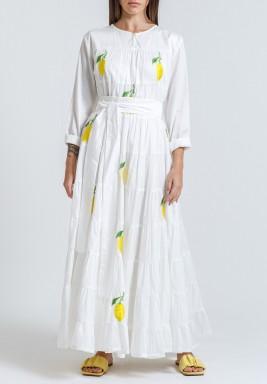 Long sleeve lemon kaftan