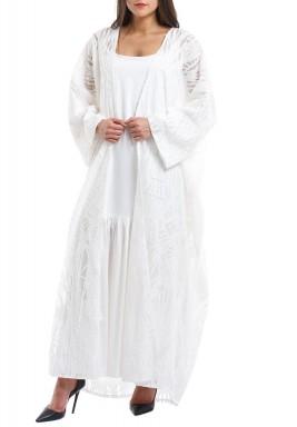 Layan White Kaftan Set