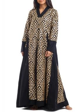 Black & Gold Embellished Dress