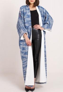 Blue Tweed Bisht