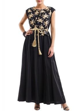 Royal black & golden kaftan