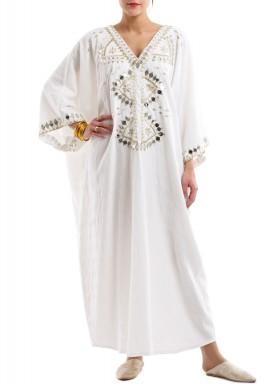 Gleaming Kaftan -White