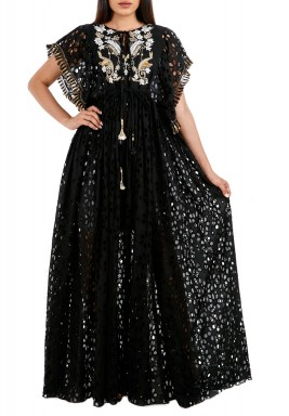 Black Aurelia Pearly Kaftan