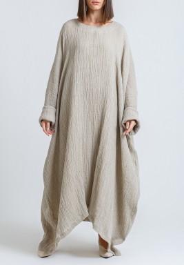 Beige Oversized Maxi Dress