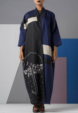 Mid night Blue Abaya