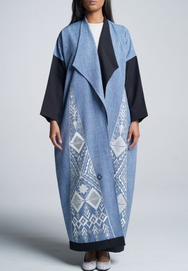 A Denim Blue Abaya