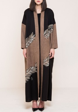 Vine embroidery  Abaya