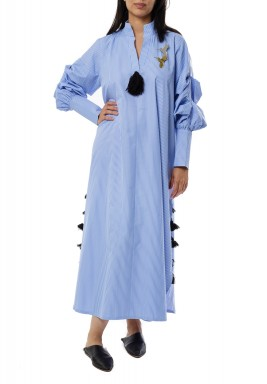 Blue bright  kaftan