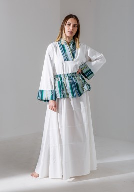 Haya White Popplin dress