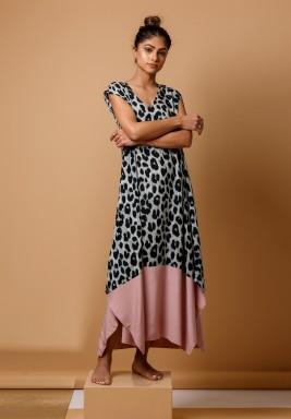 Leopard Pink Kaftan
