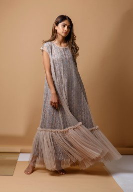 Tribal Tulle kaftan