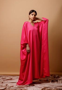 Fuschia Silk kaftan