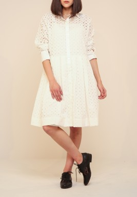 Breezelocks offwhite dress