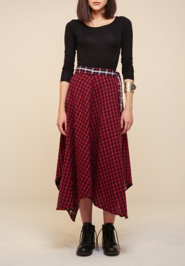 2 faced Checkered skirt