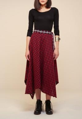 2 faced Checkered skirt