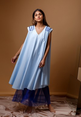 Blue Triangle Kaftan