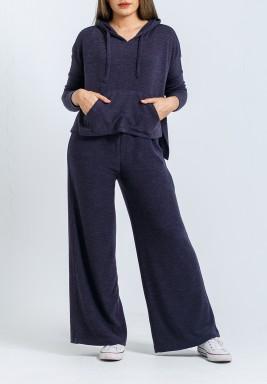 Navy Hoodie & Maxi Pants Set