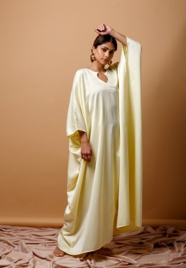 Yellow Silk kaftan