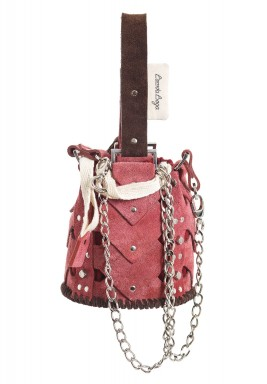 Pink Mini Vertebrae bucket bag