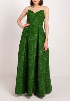 Spagetti string dress green