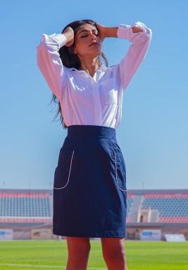 Serena Navy Pockets High Waist Skirt