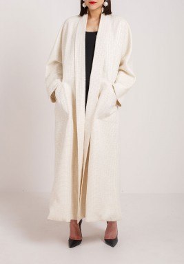 Beige long abaya