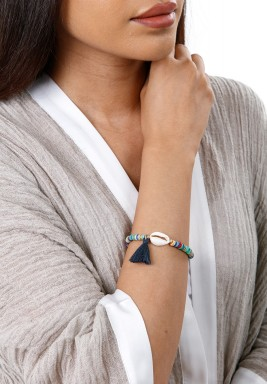Black Badu White Shell Bracelet