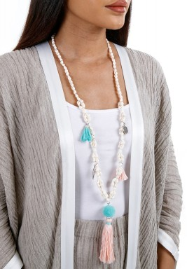 Pink Bohemian Shell Necklace