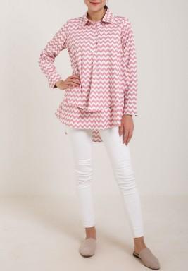 Pink & White Zigzag Shirt