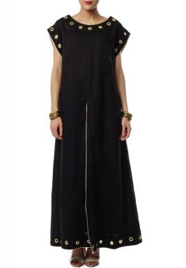 Black linen top and bottom Dress