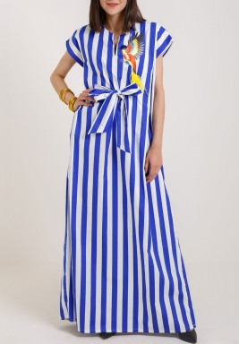 Blue Striped Kaftan