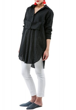 Black corset shirt