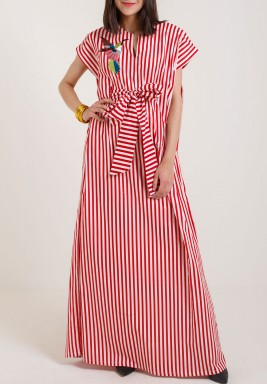 Red Striped Kaftan