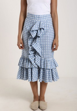 Baby Blue Ruffled Skirt