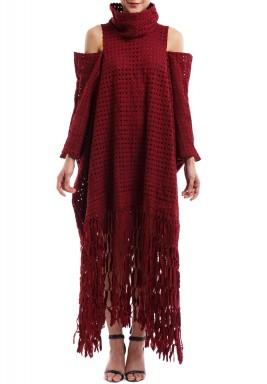 Maroon crochet