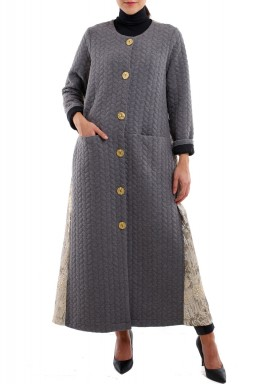 Grey jacquard coat