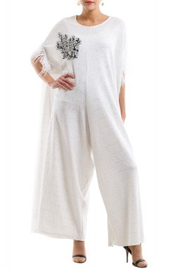 Silver applique jumpsuit