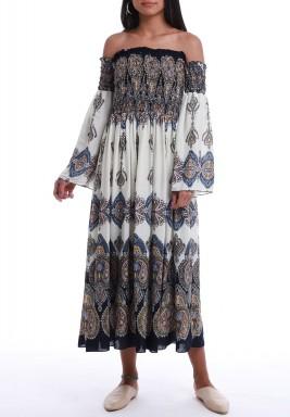 Black & White Paisley Pattern Dress