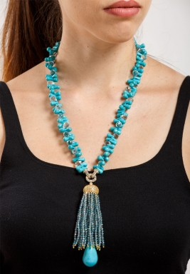 Turquoise & Aqua Quartz Necklace