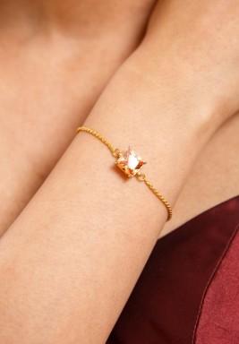 Champagne swiss zircon bracelet