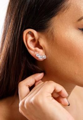White Swiss Zircon Earrings