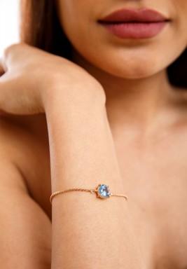 Aqua swiss zircon bracelet