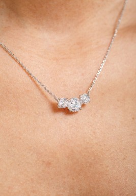 White Swiss Zircon necklace