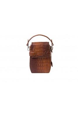 Octavio Croc Brown Multi Ways Backpack