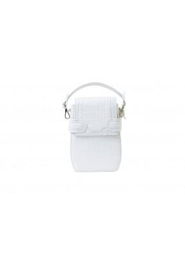 Octavio White Croc Leather Backpack