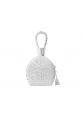Atena Croc White Leather Bag