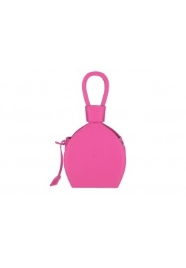 Atena Pink Bottle Shaped Leather Bag