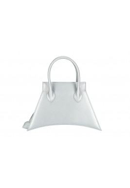 Silver Micro Blanket Leather Bag