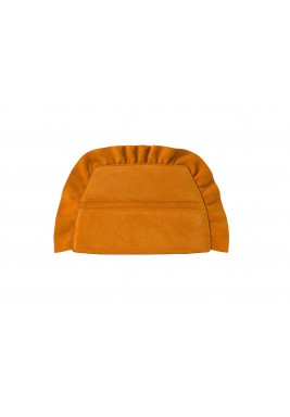 Cherubim Orange Ruffled Clutch